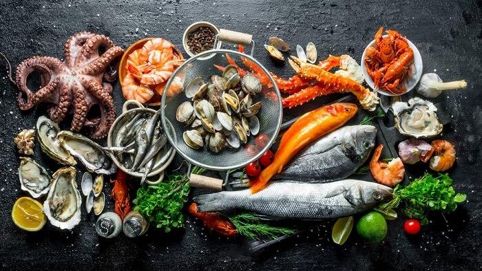 Một số loại thịt, cá, hải sản và các chế phẩm